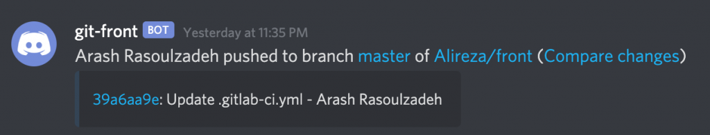 discord gitlab commit msg